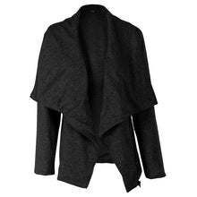 Load image into Gallery viewer, Women Casual Loose Zipper Long Sleeve Lapel Coat Cardigan Outerwear Solid Color