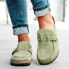 Load image into Gallery viewer, Women Casual Comfy Clogs Suede Leather Slip On Sandals