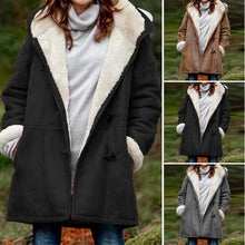 Load image into Gallery viewer, Women's Casual Warm Loose Parker Coat Pocket Jacket Plush Fur Lined Plus Size