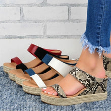 Load image into Gallery viewer, SLIP-ON COMFY WEDGE SANDALS