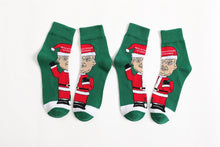 Load image into Gallery viewer, Jacquard Socks In Trump's Christmas Personality