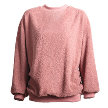 Load image into Gallery viewer, Women's Warm Loose Round Neck Pullover Long Sleeve Fluffy Teddy Bear Tops