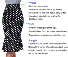 Load image into Gallery viewer, GK Women's Vintage Retro Floral Lace Hips-Wrapped Bodycon Pencil Mermaid Skirt