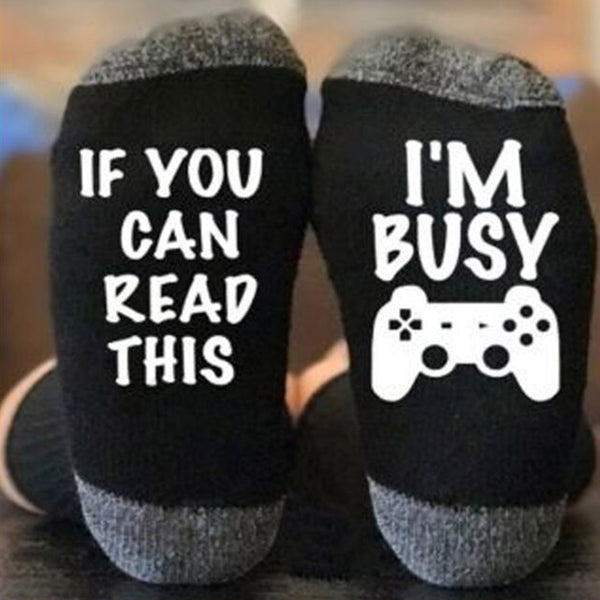 If You Can Read This I'm Busy Socks - PRESALE