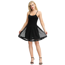 Load image into Gallery viewer, KK Sexy Women's Comfy Spaghetti Strap Cotton+Tulle Netting Cami Dress