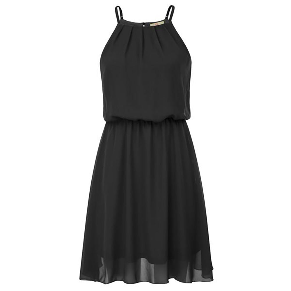 GK Sexy Women's Summer Sleeveless Elastic Waist Chiffon A-Line Dress