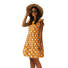 Load image into Gallery viewer, Women's Casual Cute Casual Wave Dot Print Round Neck Pullover Loose Dress