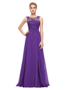 Sleeveless V-Back Chiffon Ball Gown Evening Prom Dress