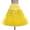 Grace Karin Two Layers Voile Chiffon Petticoat Crinoline Underskirt_Yellow