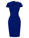 Retro Vintage High Stretchy Hips-Wrapped Bodycon Pencil Dress