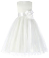Multi Layers Soft Tulle Netting Sleeveless Tea Length Flower Girl Dress