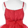 Sky Blue or Red Spaghetti Strap Multi Layers Tulle Flower Girl Dress