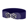Elastic Vintage Polyester Waist Belt With Metal Hook