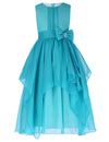 Grace Karin Ankle-Length Round Neck Sleeveless Chiffon Flower Girl Dress With Bow-Knot _Aquamarine