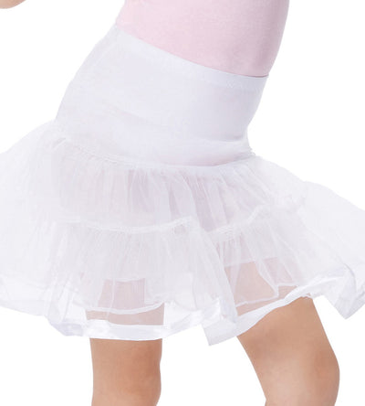 Girl's Two Layers Voile Tiered Crinoline Underskirt Petticoat