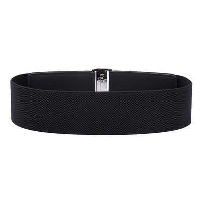 Casual Waistband Buckle Stretchy Elastic Retro Waist Belts