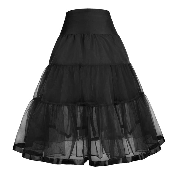 Two Layers Tiered Crinoline Underskirt Petticoat for Girl