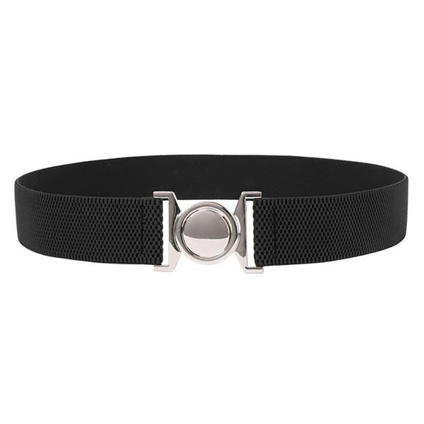 "Women's Metal Belt - 1.5"" Stretchy, Elastic"