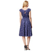 GRACE KARIN Women's Retro Vintage Navy Blue Vibrant Shooting Stars Print Cap Sleeve Crew Neck A-Line Dress