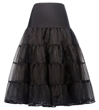 Load image into Gallery viewer, Black and White 2-Layers Voile Crinoline Underskirt Petticoat