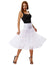 Black and White 2-Layers Voile Crinoline Underskirt Petticoat