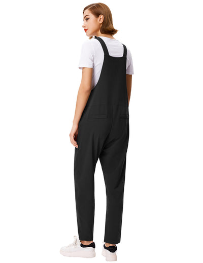 Damen Baggy Stretchy Casual Jumpsuit Romper Trägerhose