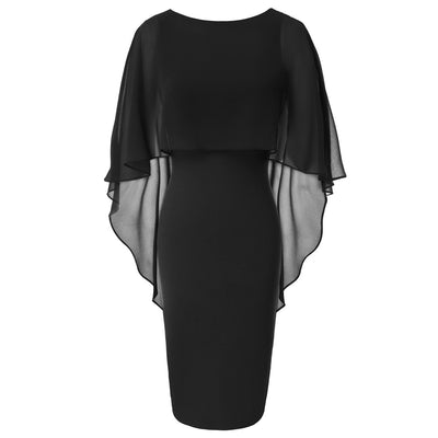 Women Sleeveless Hips-Wrapped Bodycon Pencil Dress
