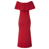 GK Sexy Women's Off Shoulder V-Neck Hips-wrapped Evening Dress