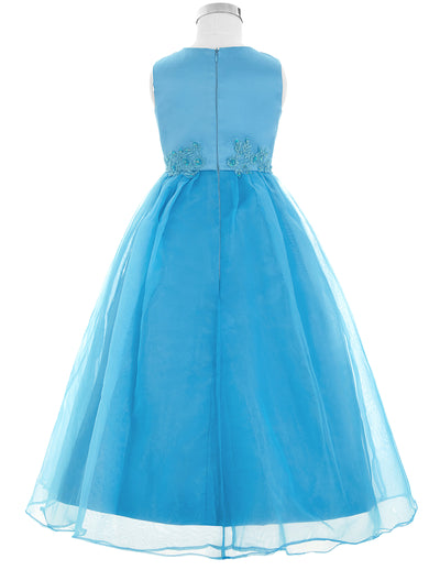 GK Full-Length Sleeveless Flower Girl Princess Bridesmaid Wedding Party Dress
