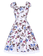 Load image into Gallery viewer, Stock Cap Sleeve Cotton Vintage Dress