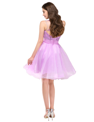 GK Sleeveless Backless Tulle Ball Cocktail Evening Prom Party Dress