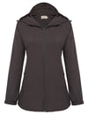 Grace Karin Women's Comfortable Lightweight Windproof Hooded Coat_Coffee