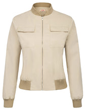 Load image into Gallery viewer, Women's Multi-Pocket Zip Front Stand Collar Jacket Coat Tops