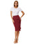 Big Ruffle Decorated Split Front Hips-Wrapped Pencil Skirt