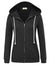 Grace Karin Women's Lightweight & Thin Long Sleeve Zip-Up Hooded Coat Tops