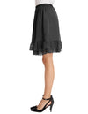 Smooth Two layers Lace Knee-Length A-Line Skirt