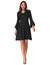 Women's Long Bell Sleeves V-Neck V-Back Flared A-Line Dress