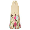 GK Sexy Women's SummerNeck Keyhole Floral Pattern Chiffon Dress