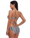 Women's Sexy Cross Front V-Neck Vibrant Pattern Swimsuit Swimwear