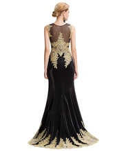 Load image into Gallery viewer, GK Sleeveless Golden Appliques Ball Gown Evening Prom Party Dress 8 Size US 2~16