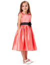 Red Sleeveless Flower Girl Dress With Bow-Knot&Fixed Black Sash