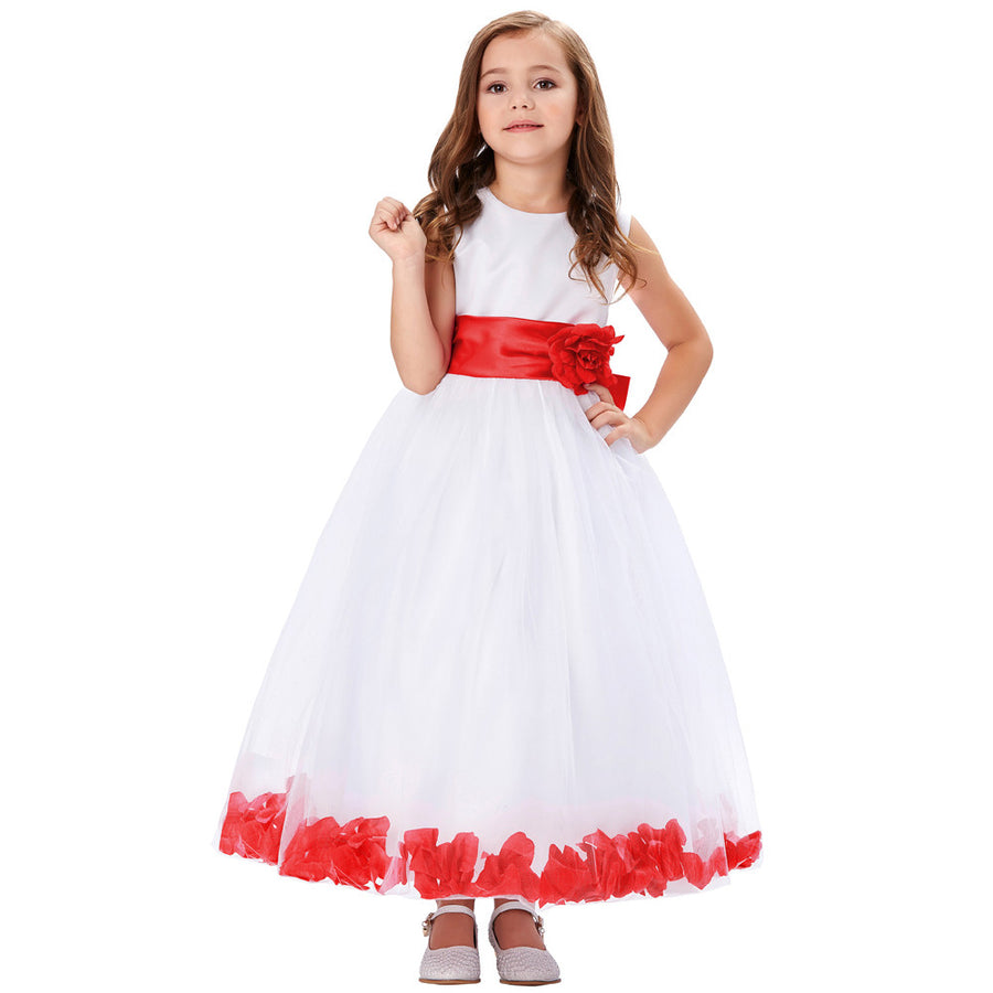 Grace karin flower kids girls dresses with different colors and styles grace karin floor length flower girl dress with flower waist bow knotred izmirmasajfo