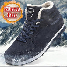 Load image into Gallery viewer, Men and women winter snow boots increase 36-47 warm winter shoes plush sneakers