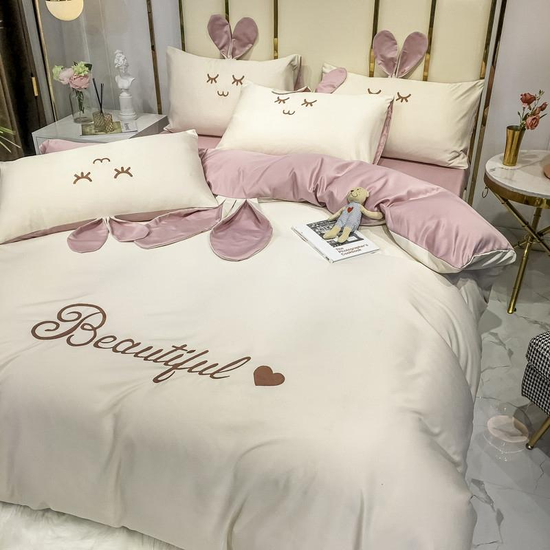 Beautiful Rabbit Silk Bedding Set