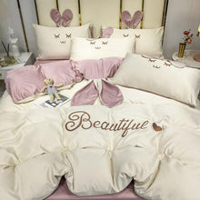 Load image into Gallery viewer, Beautiful Rabbit Silk Bedding Set