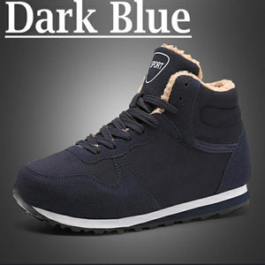 Men and women winter snow boots increase 36-47 warm winter shoes plush sneakers