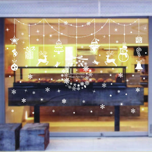 PVC Wall Sticker Set Christmas Home Window Shop Display Glass Decoration