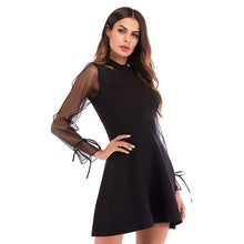 Load image into Gallery viewer, Women's Slim Round Neck Dress Long Sleeve High Waist Holiday Evening Party