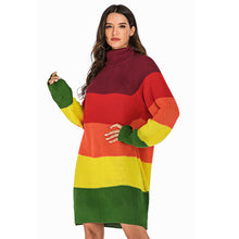 Load image into Gallery viewer, Women's Casual Turtleneck Sweater Dress Knitwear Loose Baggy Pullover Jumper