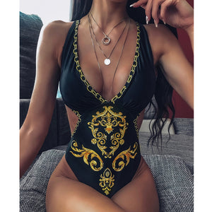 Positioning Print One Piece Bikini